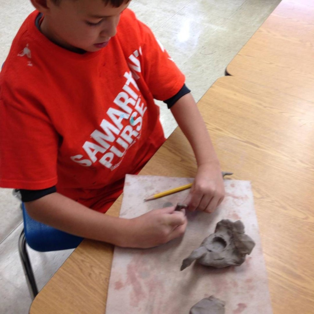 Working with clay during Art class with Mrs Mead! wwwclcschoolorghellip