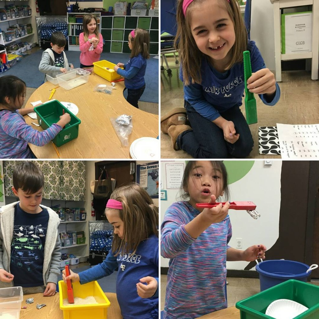 Experimenting with magnets in Primary B today! So much fun!hellip