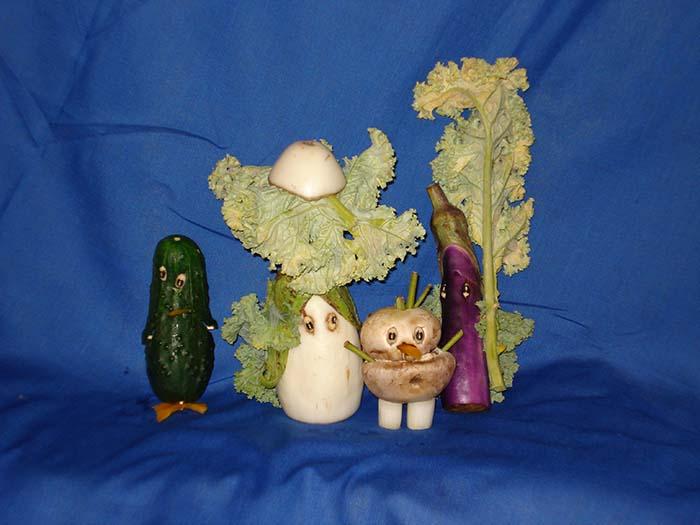 CLCS Art Show veggie art