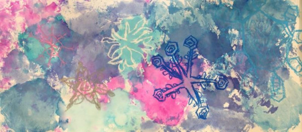clcs art class snowflake painting